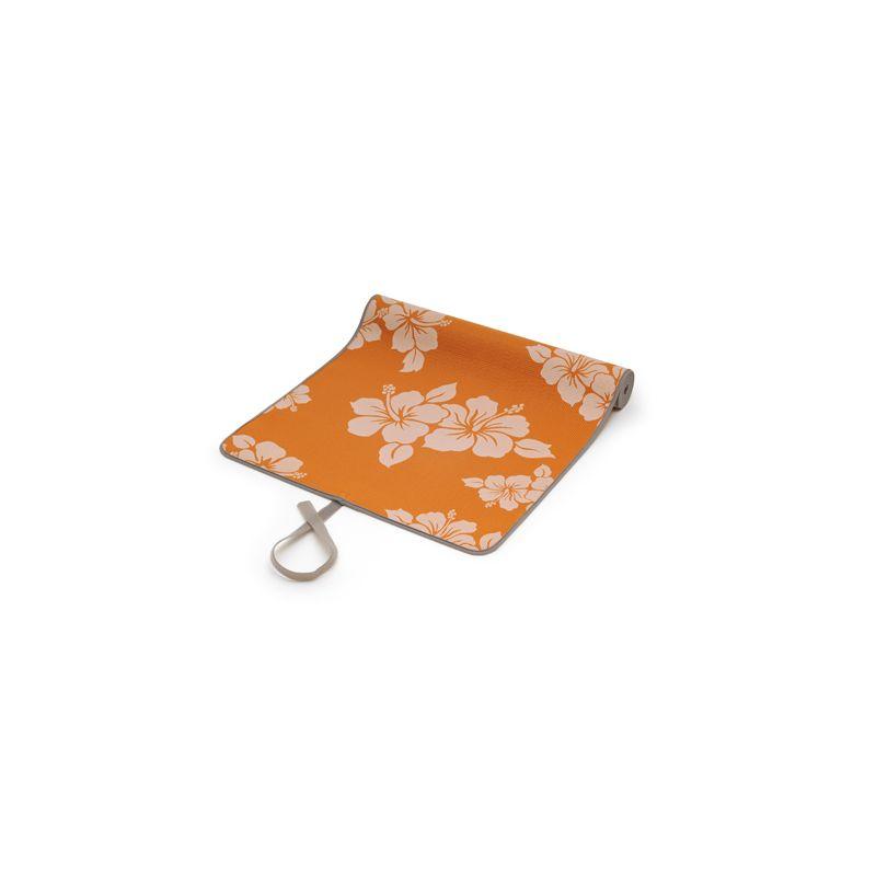 Tapis Yoga à fleurs orange - Pilates et Yoga - sisselpro.fr