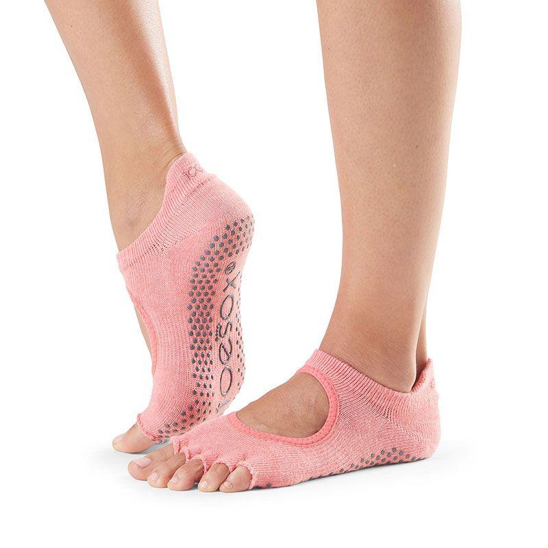 Chaussettes Pilates Toesox® HT Bellarina Melon   Chaussettes Pilates à orteils séparés