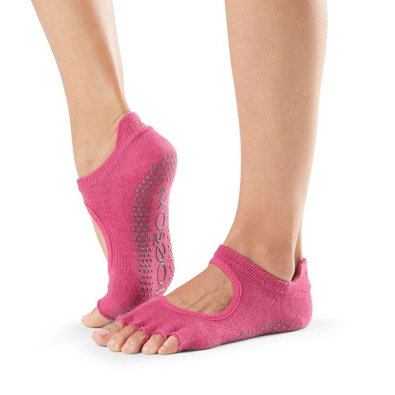 Chaussettes Pilates Toesox® HT Bellarina Raspberry | Chaussettes de Pilates