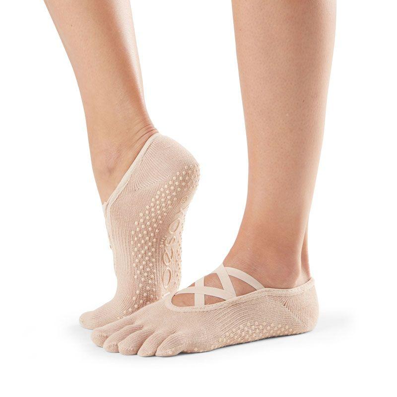 Chaussettes antidérapantes Pilates Toesox® FT Elle Nude | Chaussettes de Pilates