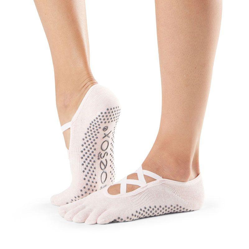 Chaussettes Pilates Toesox® FT Elle Ballet Pink | Chaussettes antidérapantes Pilates | SISSEL France