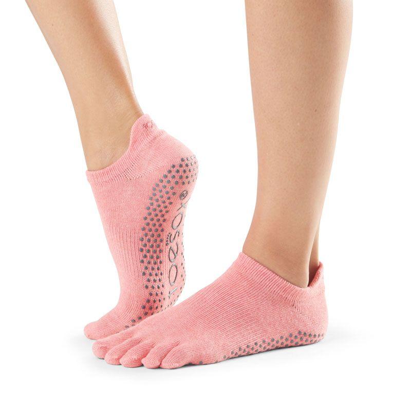 Toesox® Full Toe Lowrise Melon | Chaussettes de Pilates | toesox