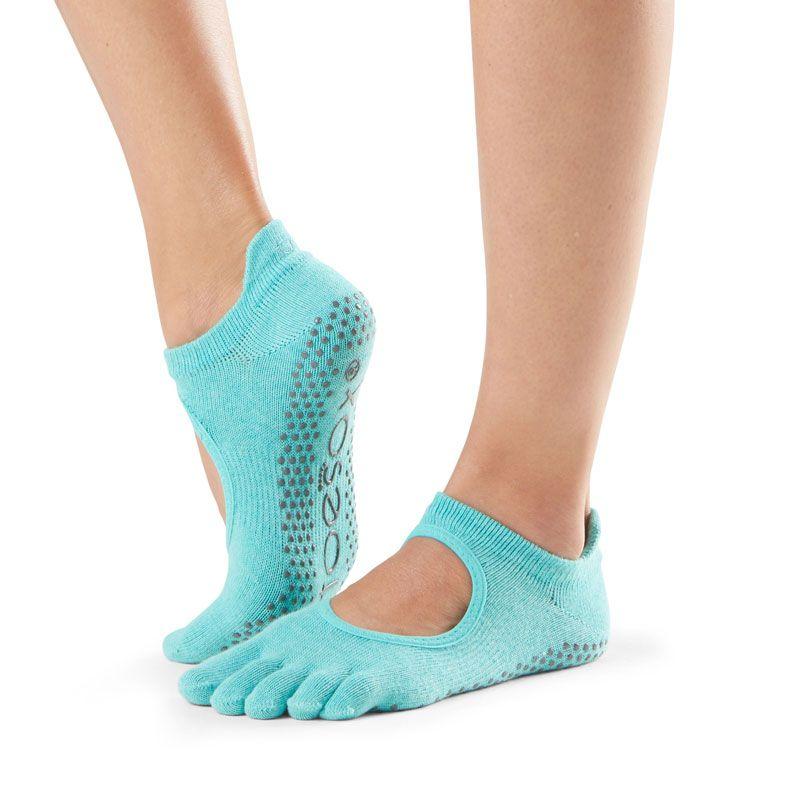 Chaussettes Pilates Toesox® FT Bellarina Aqua avec orteils séparés | SISSEL France