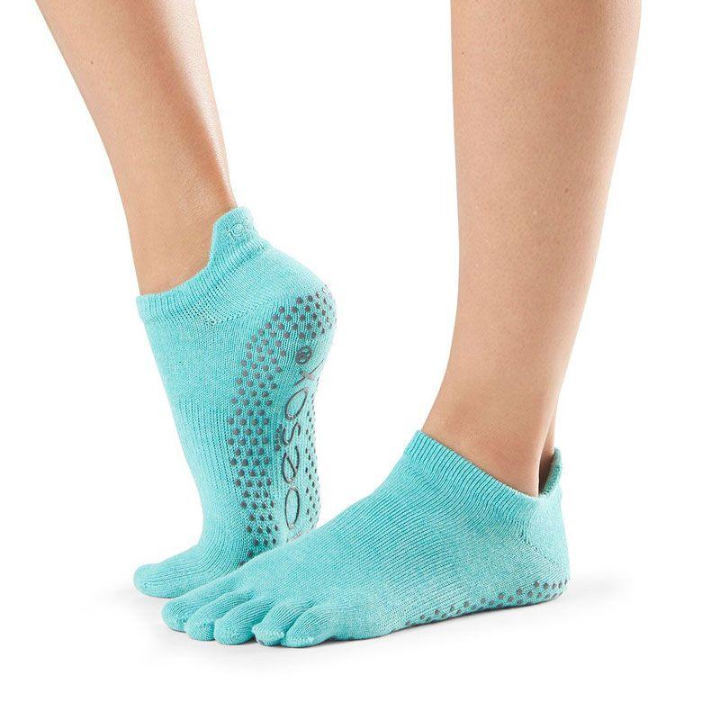 Toesox® Full Toe Lowrise Aqua | Chaussettes Pilates | toesox