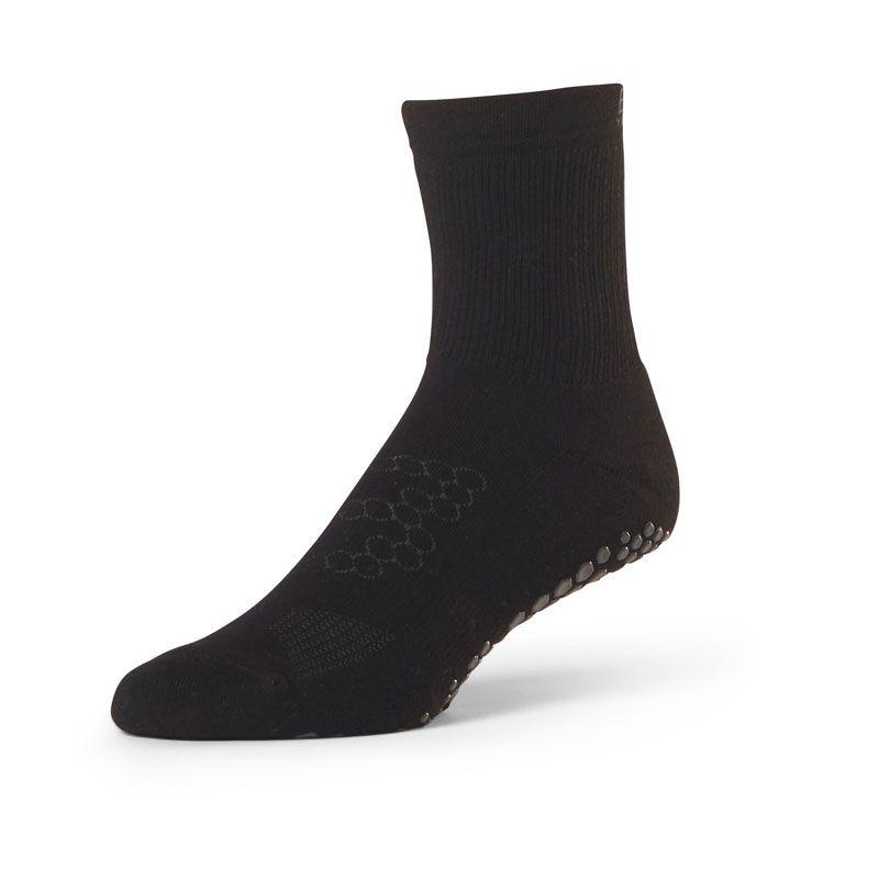 Chaussettes antidérapantes homme BASE 33™ Crew Noir | Chaussettes anti-dérapantes