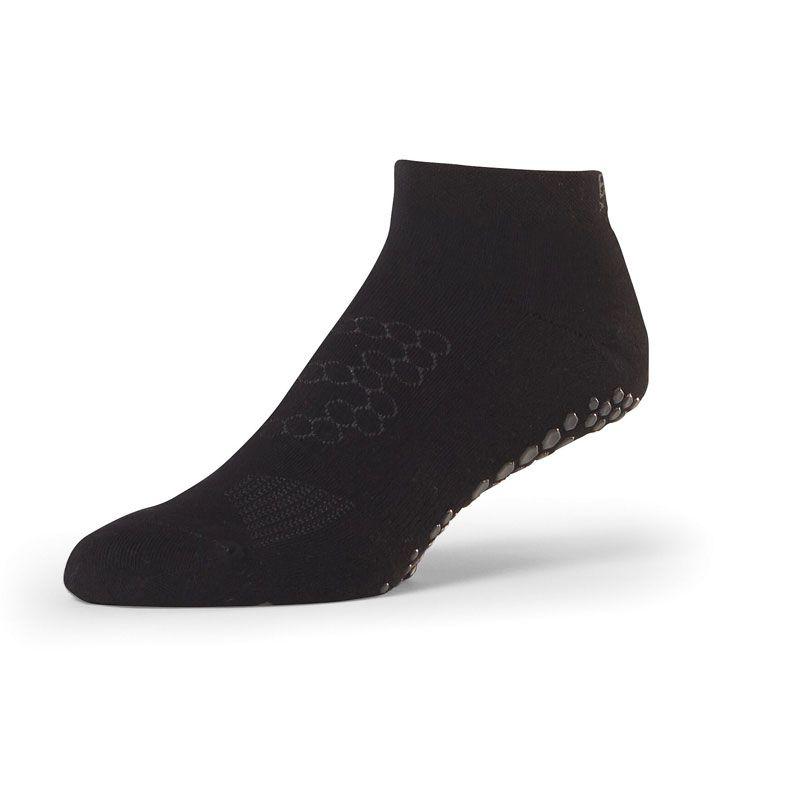 Chaussettes anti-dérapantes BASE 33™ Lowrise Noir | Chaussettes antidérapantes homme