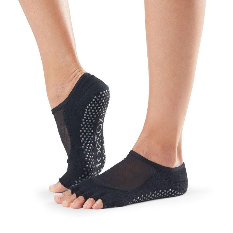 Chaussettes antidérapantes Pilates Toesox® Half Toe Luna noir