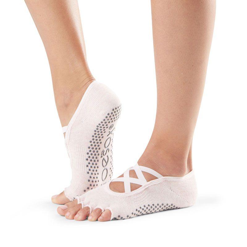 Chaussettes Pilates Toesox® Half Toe Elle Ballet Pink | Chaussettes antidérapantes Pilates