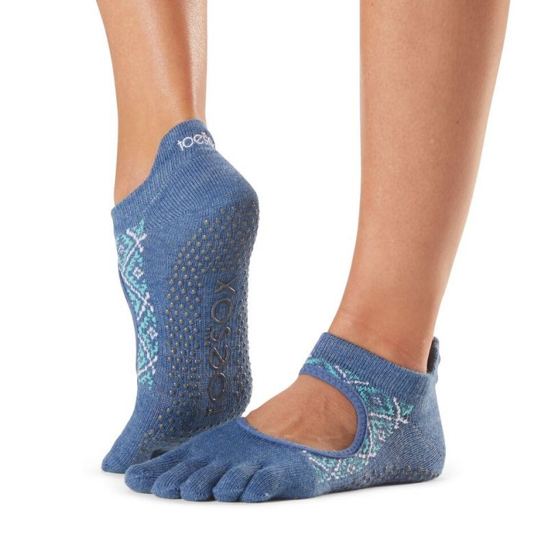 Chaussettes antidérapantes Toesox® Full Toe Bellarina Baja | Chaussettes yoga