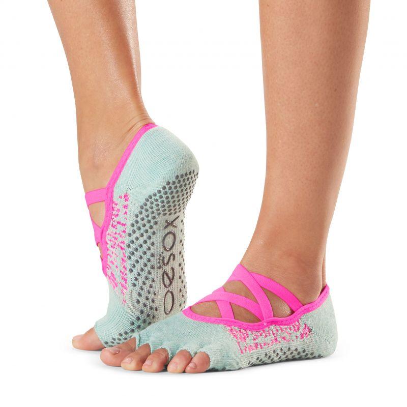 Chaussettes antidérapantes Toesox® Half Toe Elle Playa | Chaussettes de Pilates