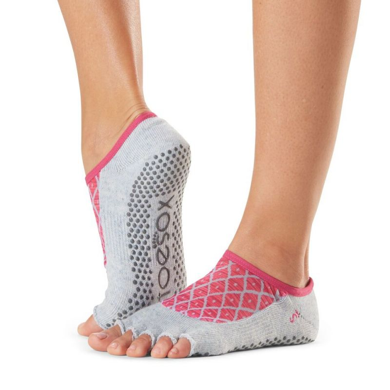 Chaussettes antidérapantes Toesox® Half Toe Luna Siesta | Chaussettes Pilates