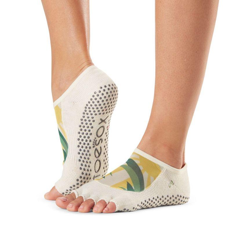 Chaussettes antidérapantes Toesox® Half Toe Luna Soleil | Chaussettes Yoga