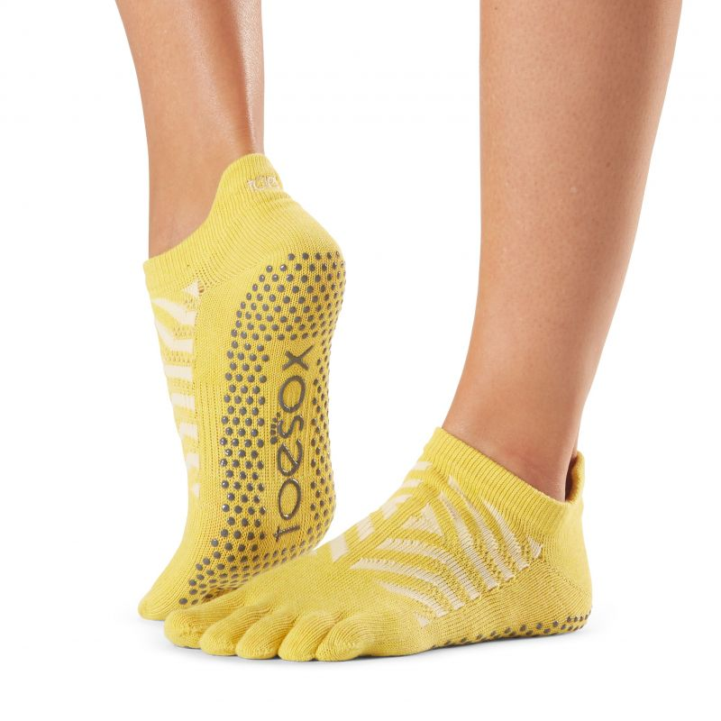 Chaussettes antidérapantes Toesox® Full Toe Lowrise Get Away | Chaussettes Pilates
