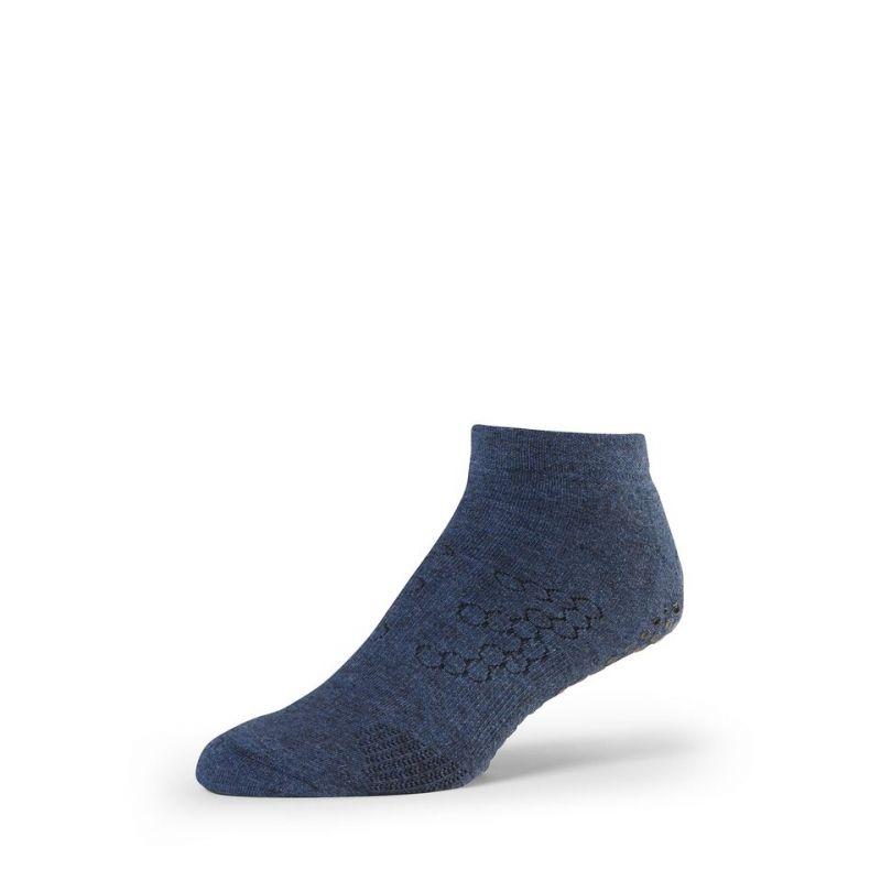 Chaussettes antidérapantes BASE 33™ Lowrise homme Navy | Chaussettes antidérapantes