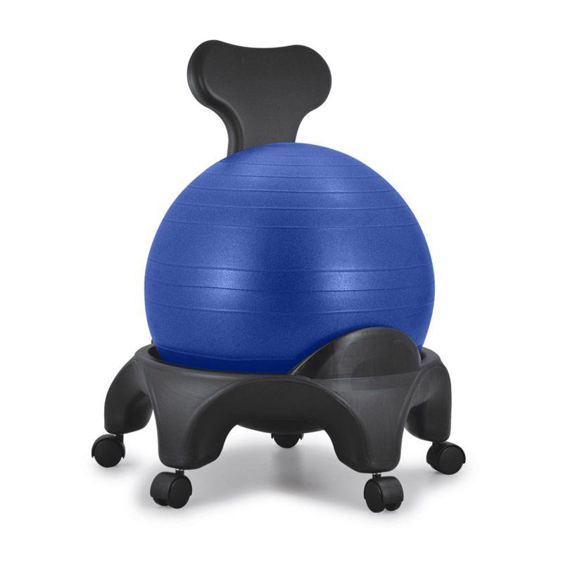 Chaise ergonomique avec ballon Tonic Chair® Originale Bleu
