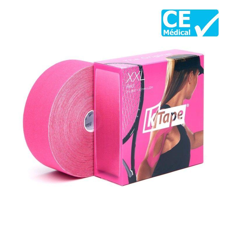 Packaging bande de kinésiologie K-Tape® XXL Rose | Bande k-tape