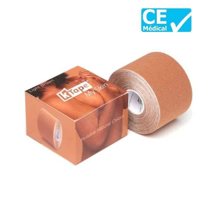 Packaging bande de kinésiologie K-Tape® 5 m Marron clair | Bande k-tape | sissel pro