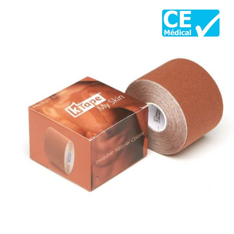 Packaging bande de kinésiologie K-Tape® 5 m Marron   Bande kinésio tape   sissel pro