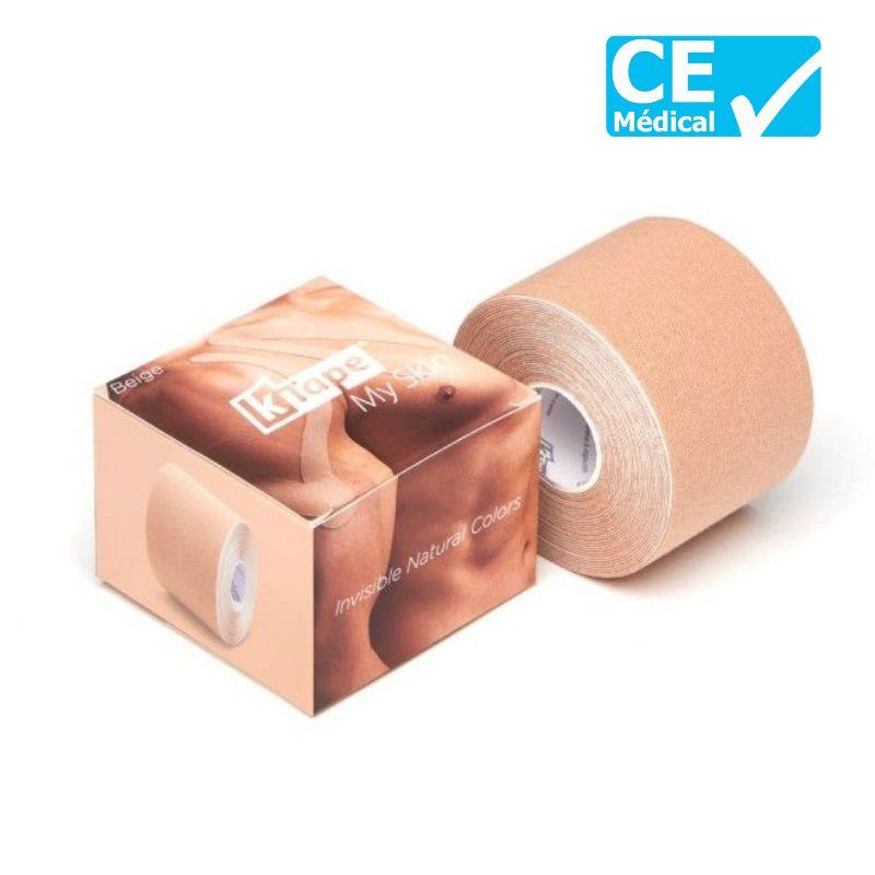 Packaging bande de kinésiologie K-Tape® 5 m Beige | Bande kinésio tape