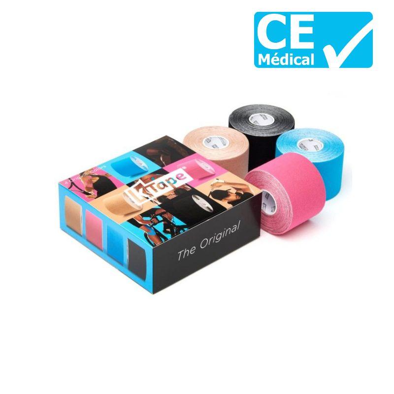 Packaging boîte de 4 bandes de taping Mix | Bandes k-tape®