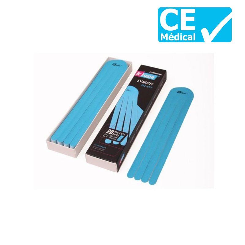 Bande taping pré-coupée K-Tape® Lymph