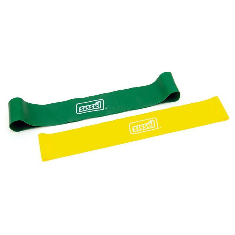 Bande élastique SISSEL® Loop lot de 2 vert et jaune