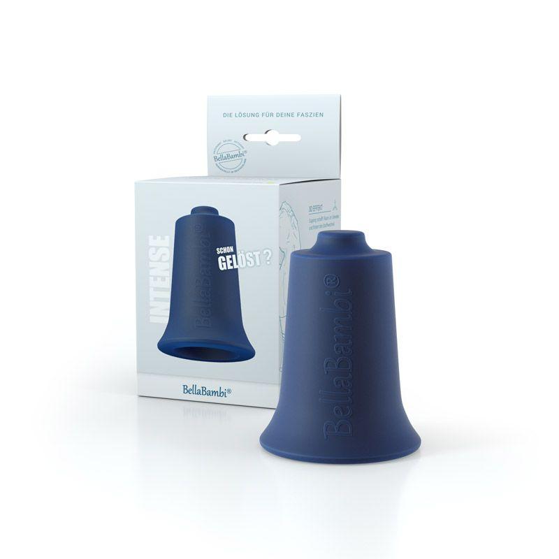 Ventouse Silicone Maxi BellaBambi® bleu nuit avec packaging