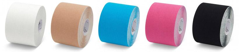 Présentation des différents coloris des bandes de kinésiologie K-Tape®