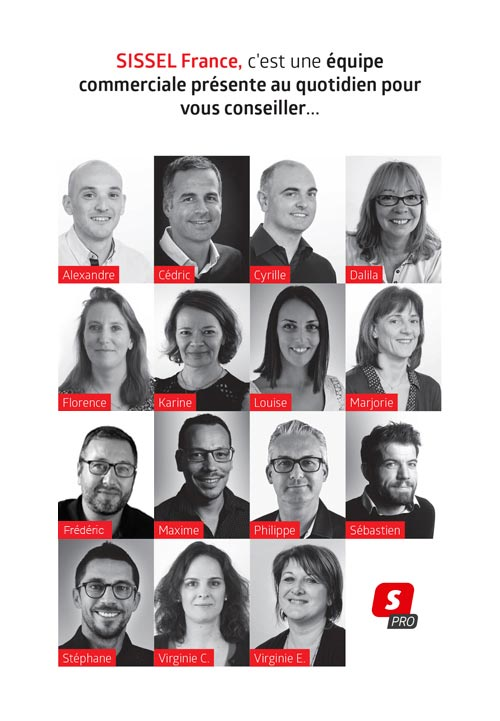 Equipe commerciale Sissel France 2021-2022