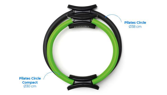 Différence de taille entre le Pilates Circle et le Pilates Circle Compact